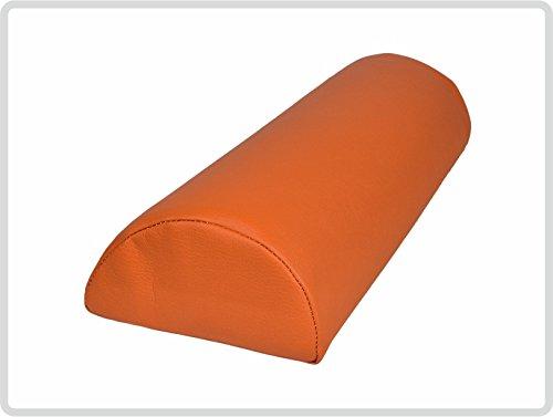 Halbrolle Nackenrolle Knierolle Massage mit Kunstlederbezug 40 x 15 x 7,5 cm, orange