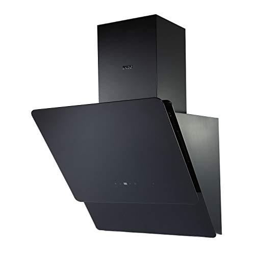 NEG Dunstabzugshaube KF596EKB (Umluft/Abluft) schwarz 60cm kopffrei mit LED-Beleuchtung, Randabsaugung & Fernbedienung, Glas-Front, 5 Motorstufen (max. 850m³/h), sehr leise