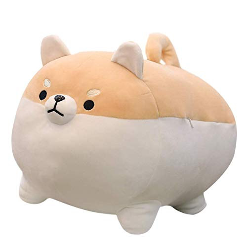 16' Shiba Inu Plush Corgi Plush Stuffed Animal Kawaii Plush Soft Pillow Doll Dog, Dog Plush Toy Gifts for Family, Friends, Kids (Brown)
