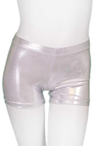 Destira Girl's Mystique Gymnastics Sport Short - Silver | Child Small (6x)