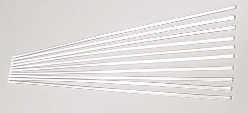 "10 Pcs 1/8"" Diameter x 12"" Inch Long Clear Acrylic Plexiglass Rods - .125 Dia - 3mm - 10 Feet"