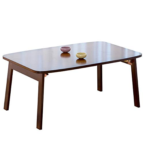 Alppq Utility Folding Table Tea Table Floor Table Low Table Household Bamboo Solid Wood Bay Window Table Bed Tatami Table Coffee Table Home Office Laptop Table Writing Desk Multipurpose Brown