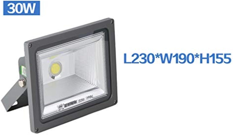Strahler Mit,Outdoor LED Wasserdichte Super Helle Scheinwerfer Quadrat Stadion Baustelle Explosionsgeschützte Beleuchtung Projektion (gre   30W)