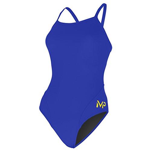 Phelps - MP Maillot de Bain pour Femme Dos mi-Haut L Bleu Marine