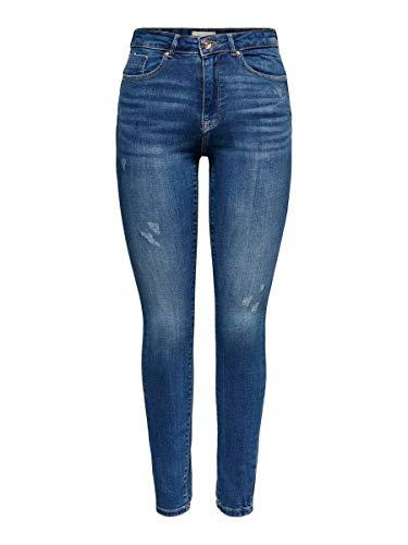 Only ONLFPAOLA HW SK ANK Destroy VEC AZ2810 Jeans, Denim Bleu médium, XS Femme