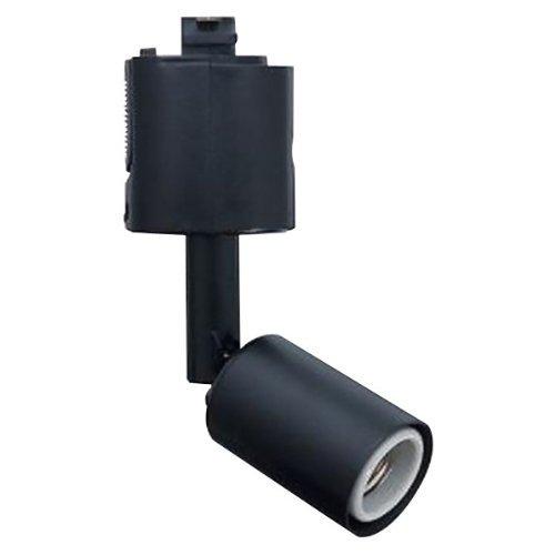 ヤザワ スポットライトショート ブラック E26電球なし 消費電力150Wまで アーム長さ45mm ダクトレールに取り付け可能 LCX6025BK