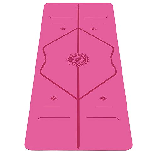 Liforme Travel Yogamatte - Die Umweltfreundlichste, rutschfeste Yogamatte der Welt Mit Dem Originalen Einzigartigen Ausrichtungsmarkierungssystem - Biologisch Abbaubare Matte Aus Naturkautschuk