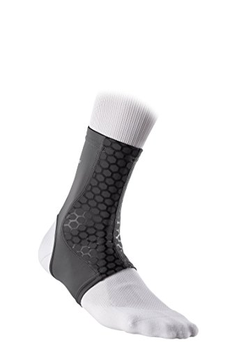 McDavid Active Comfort Compression Ankle Sleeve, Grey/Black, Small