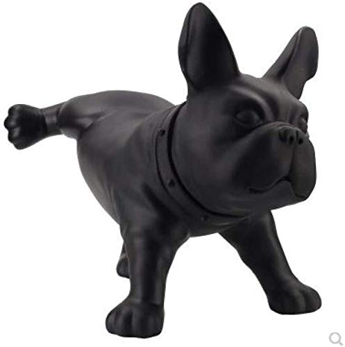 ZHANG Sculpture Statuette Pe Plastic Bulldog Sculpture Abstract Puppy Statue (Peeing - Black) French Bulldog Animal Figurine