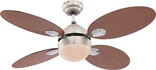 Deckenventilator Ventilator mit Zugschalter und Beleuchtung Globo Wade 0318