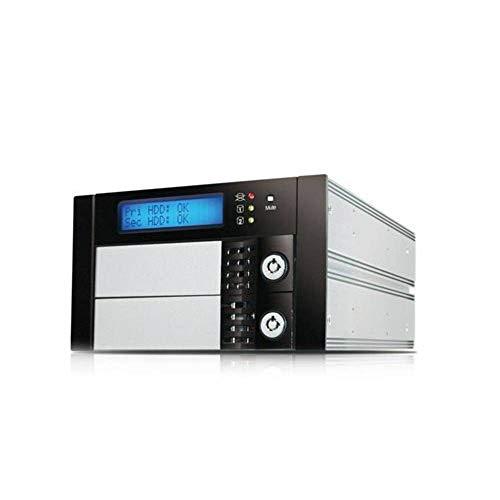 RAIDON SR2611-2S-S2R INTERNES RAID 01 8,89cm 2 x 3,5 Zoll SATA HDD bis zu 6 Gbit/s Hot Swap Plug + Play RS232 Aluminium schwarz
