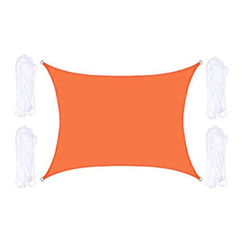 QYQS Rectángulo Impermeable De La Vela De Sombra para El Patio Al Aire Libre, Jardín, Patio Trasero, Sombra De La Vela Solar Una Variedad De Especificaciones para La Selección(Size:2X2.5m/7X8ft)
