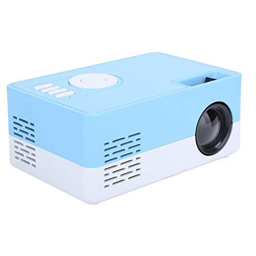 wendeekun Proyector de Video, proyector Full HD de 1080p, proyector portátil LED de Alta definición Completa Proyector de Cine en casa Inteligente, para el hogar y la Oficina(Azul Blanco)