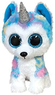 Ty- Beanie Boo's-Helena The Husky Soft Toy 15 cm, TY36322, White/Blue