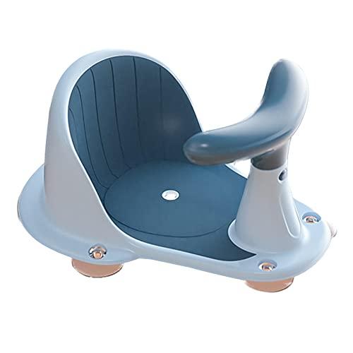 ZHIYA Taburete antideslizante Asiento de seguridad para bebés Silla de baño portátil para bebés Niño con ventosa Ayuda al bebé a practicar sentado Bañera infantil estable y segura con ventosas capable