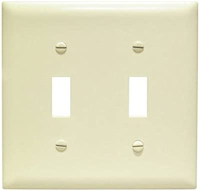 Legrand Pass Seymour Tp2i Tp1wcp10 Toggle Switch Wall Plates 2 Gang Ivory Electrical Distribution Wall Plates Amazon Com