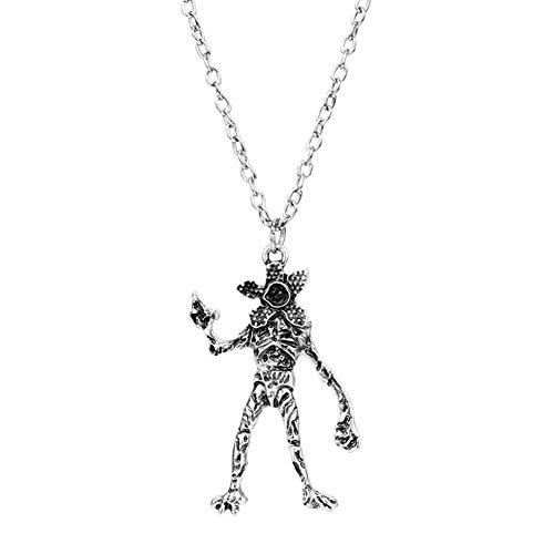 Mesky EU Extrañas Cosas Collar Pendiente Demogorgon Necklace con Caja Unisex para Hombre Mujer Zinc Regalo Cosplay Ropa Accessorio Costume