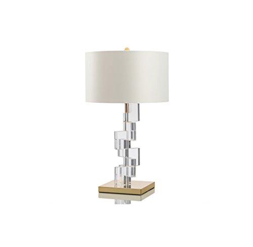 Zfggd Lámpara de sobremesa grande, decorativa para el hogar, con acabado dorado, base de cristal de metal, luz de escritorio, sala de estar, dormitorio, lámpara de escritorio, lámpara de mesa blanca,