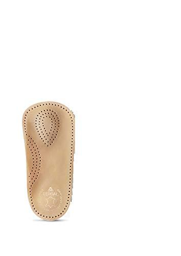 BERGAL Perfect Plus Fußstütze aus echtem Leder + Rema Einlagenbeutel (38 Damen, Braun)