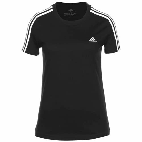 adidas Loungwear Slim Fit 3 Stripes - Camiseta para mujer blanco/negro S
