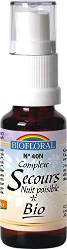 Biofloral - Elixir floral du docteur bach remède de secours nuit paisible - vaporisateur élixir flor