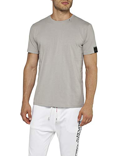 Replay Herren M3728 .000.2660 T-Shirt, Braun (Light Mud 673), Small (Herstellergröße: S)