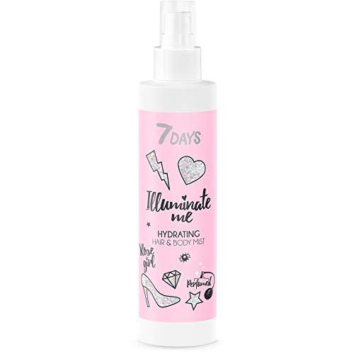 7DAYS Bruma Perfumada Hidratante 1 Unidad Agua de Rosas Tónico Facial Relajante Calmante Antiedad Agua Floral Para Iluminar Piel y Cabello 180ml