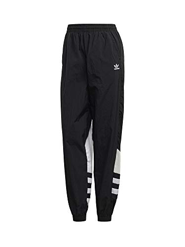 Adidas Track Big Logo, Pantaloni Donna, Black/White, 40