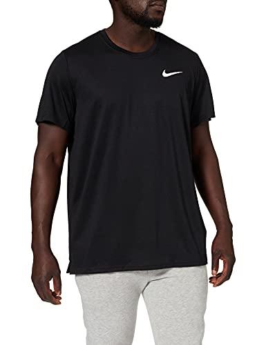 Nike M NK DF SUPERSET Top SS T-Shirt, Black/(White), S Uomo
