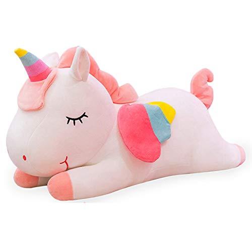 WENTS Peluche Unicorno 20 cm Giocattolo Bambola Originale Dettagli Belli con Ali di Corno e Arcobaleno, Materiale Morbido per la Pelle, Regalo per Bambino