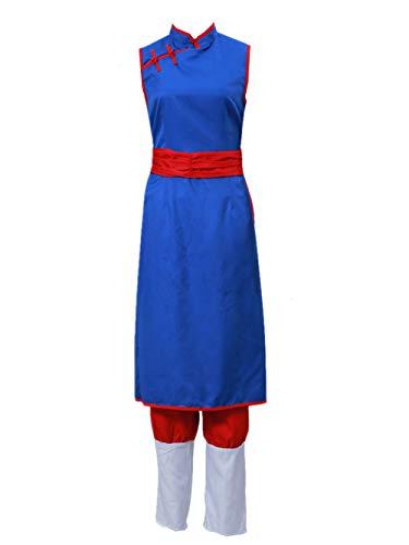 LVCOS Dragon Ball Chi Chi Cosplay Costume Halloween (Female S) Blue