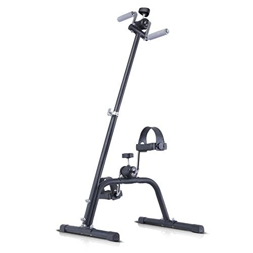Bicicleta de Rehabilitacion,Entrenador de Pies y Manos de altura ajustable,rehabilitación de accidentes cerebrovasculares y hemiplejía para personas mayores/Black / 65x42x42cm