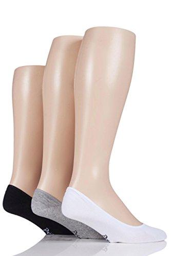 Pringle Herren 3 Paar Einfarbige Baumwolle PED-Socken-Sortiert-40-45 Herren