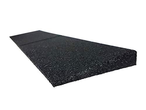 Bordsteinrampe aus Gummi | 1000 x 250 x 30 bis 110 mm | Türschwellenrampe | Schwellenrampe, Bordsteinrampe für Auto, Garage (1000 x 300 x 70 mm)