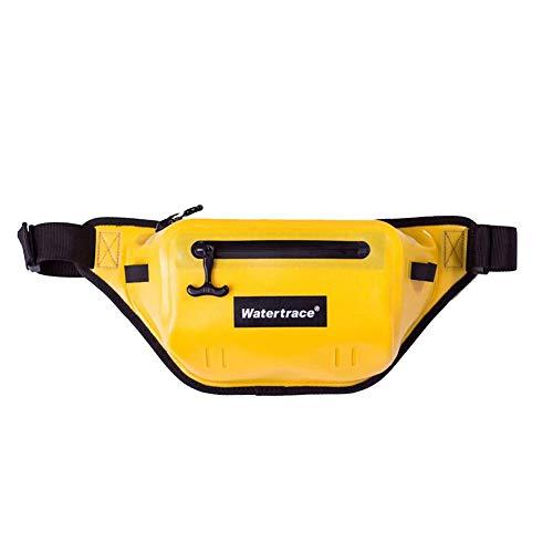 Waterproof Snorkeling Bag Waterproof Waist Bag Canoe Kayak Surfing Boating Storage Pack Fishing Camping Jet Ski Motorcycling Dry Bag (Yellow)