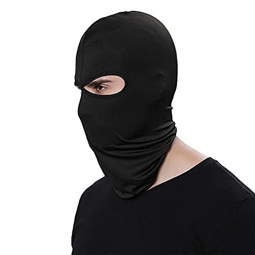 Damaifirstes Headgear - Máscara de ciclismo para hombre, protector solar, capucha delgada para motocicleta, cortavientos y frío, forro de casco a prueba de polvo, 2 unidades, color negro B_23 x 40 cm