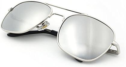 J S Premium Military Style Classic Aviator Sunglasses Polarized 100 UV protection Medium Square product image