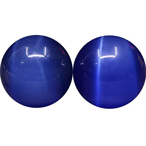 Laogg Baoding Bolas Chinas,Cristal Azul Opal Balonmano Salud Ejercicio Alivio Del Estrés Balón De Mano Bola De La Aptitud Para La Relajación Muscular