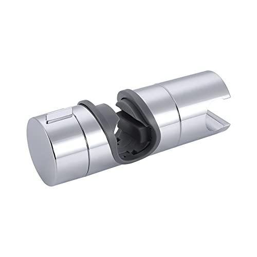 KES Soporte Alcachofa Ducha 18-25mm Soporte Barra Ducha Sujeta Ducha Ajustable 360° Giratorio Repuesto Soporte Ducha Pulido Cromo, PB4-CH