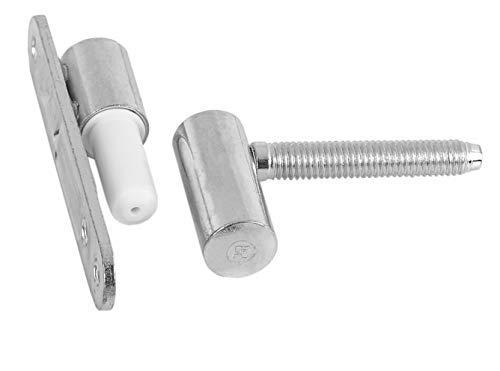 Gedotec Türscharnier Zimmertür Renovierbänder Metall verzinkt | Türbänder zum Aufschrauben - einbohren | MADE IN GERMANY | Aufschraubband für Holz-Türstöcke | 1 Stück - Einbohrbänder Innentür