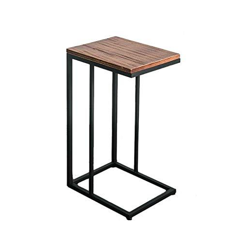 LILISHANGPU Table d'appoint Table Basse en Bois Doré Carré en Fer Forgé Coin Plusieurs Canapé Côté C Ordinateur De Bureau Moderne Minimaliste (Size : 32 * 40 * 68cm)