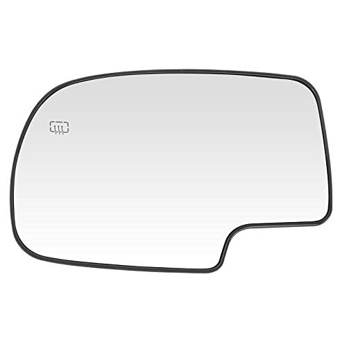 ECCPP Mirror Glass Power Heated Driver Side(LH) Replacement fit for Chevy Avalanche Suburban Silverado Tahoe GMC Sierra Hybrid Classic Yukon