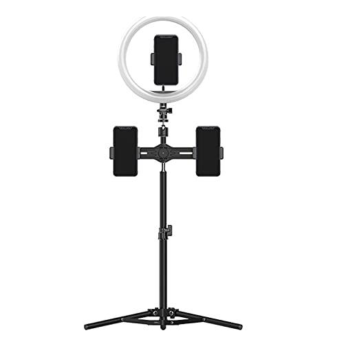 TTSEFW Aro de Luz Selfie Trípode,Anillo de Luz LED con Soporte para Móvil con USB Control Remoto Regulable para Transmisión en Vivo Maquillaje Fotografía Compatible