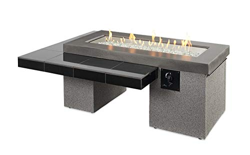 Review Outdoor Greatroom Uptown Gas Fire Pit with 42x12 Inch Burner, Black
