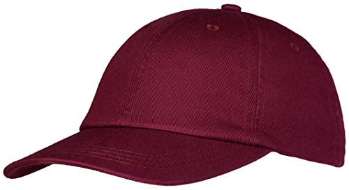 Pembroke® Gorra de Béisbol, 100% Algodón, Dad Hat, Cap, Mujer et Hombre, Granate, Ajustable
