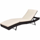 Gymax Outdoor Patio Adjustable Sun Bed Wicker Lounge Chair - Walmart.com