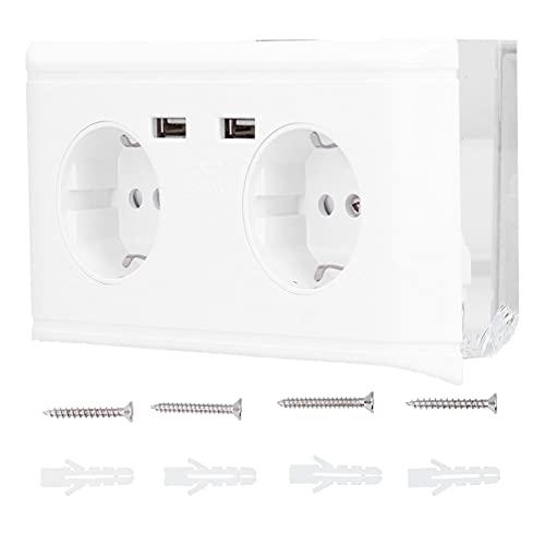 Toma de corriente USB, toma de interruptor de pared multifunción, tomacorriente para oficina en casa UE 250V