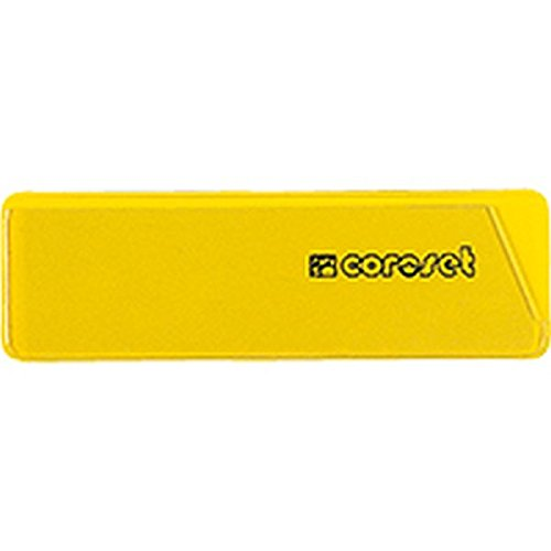 coroset® magnetische Etikettenhalter, gelb, 97x30mm, 100/VE