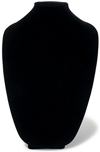 Darice 3D Necklace Display Form 15-inch, Black Velvet