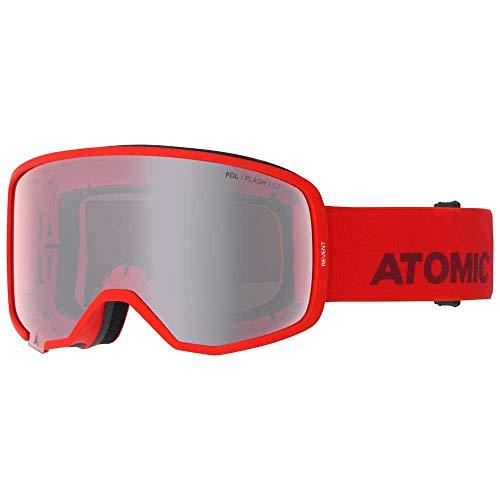 ATOMIC Revent Skibril (kleur: rood, schijf: Silver Flash)